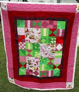 Bahamas quilt to remember trips to Stella Maris Resort on Long Island.