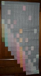 Waterfall quilt with my one and only attempt at hand dying fabrics.