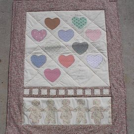 Quilt for my Grandma with names of her kids and grandkids.