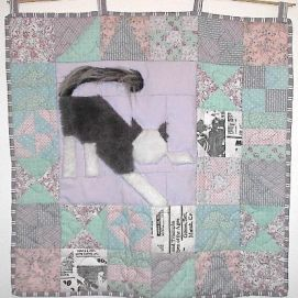 Little Lucy quilt. She loved playing with paper balls.