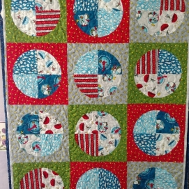 Snoopy Circles quilt