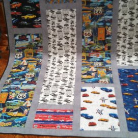Muscle cars on Rt. 66 quilt
