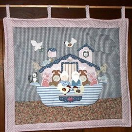 Noah's Ark wall hanging for our nursery.